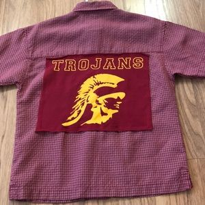 USC Trojans Upcycled Quiksilver Button Down